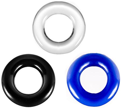 Big Dingeling Donut, 3er Penisring Set, verschiedene Farben
