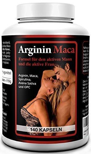 L-ARGININ 1500 mg PLUS MACA GOLD 3500 mg 140 Kapseln, Tabletten - Spezialprodukt mit Vitaminen, Aminosäuren, Zink - Monatskur - 1