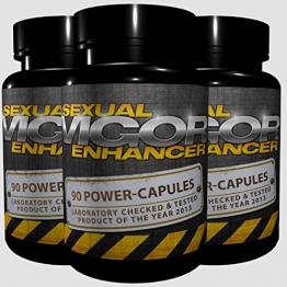 3x Vigor - Sexual Enhancer (270 Kapseln) - längere und härtere Erektion, Erektionsmittel, Potenzmittel für Männer -