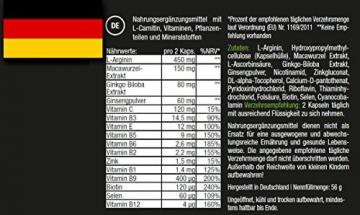 Fyron MENS Kapseln - Fruchtbarkeit + Testosteronspiegel + Sperma + gegen Müdigkeit - L-Arginin, Maca, Ginseng, Ginkgo, Vitamine - 90 Kapseln -
