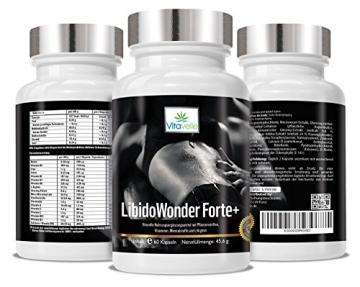 Libido Wonder Forte+ Potenzmittel Libido Wonder 60 Vegane Cellulose Kapseln I Zur Steigerung der sexuellen Leistungsfähigkeit -