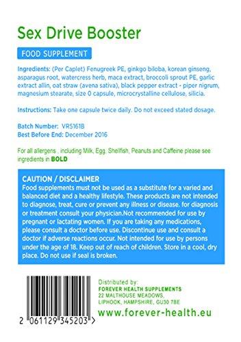 Natürliches Pflanzliches Potenzmittel - Sex Drive Booster - Speziell Entwickelt um Libido und das Sexuelle Verlangen bei Männern und Frauen zu Erhöhen - Herbal Aphrodisiac Kapseln Aphrodisiaka - Enthält Maca Extrakt Ginkgo Biloba Korean Ginseng - 120 Tabletten - SCHNELLER VERSAND VON AMAZON DEUTSCHLAND - Erhalten Ihre Bestellung Innerhalb Weniger Tage Nicht Wochen ! -