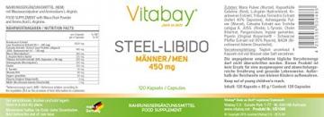 STEEL- LIBIDO für Männer erhöht die sexuelle Potenz! - 120 Kaps -